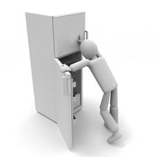 空っぽの冷蔵庫のユーザーアイコン