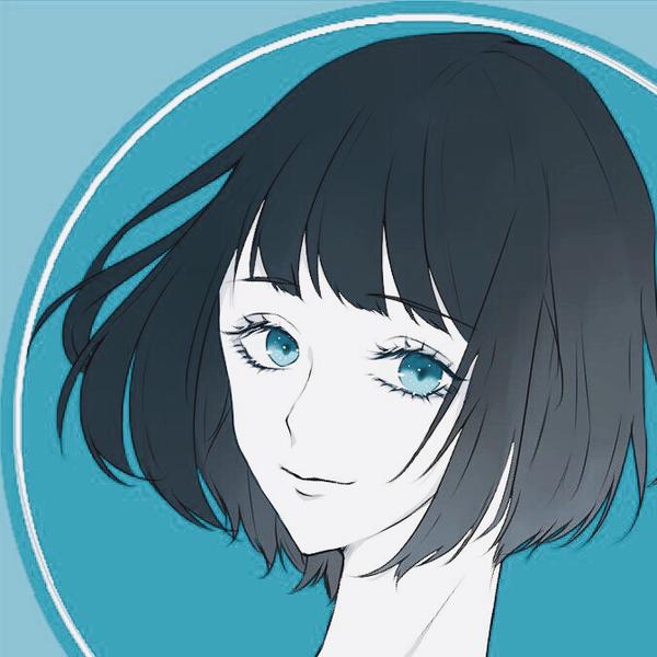 青のユーザーアイコン