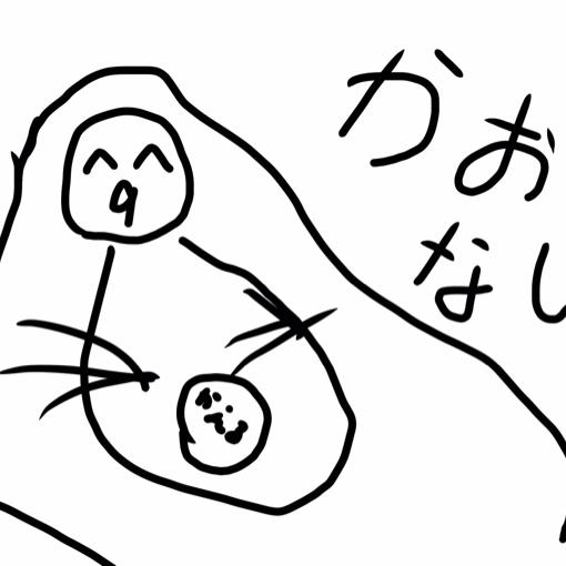 モアイと障害物走中のユーザーアイコン