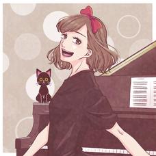 黒猫とピアノのユーザーアイコン