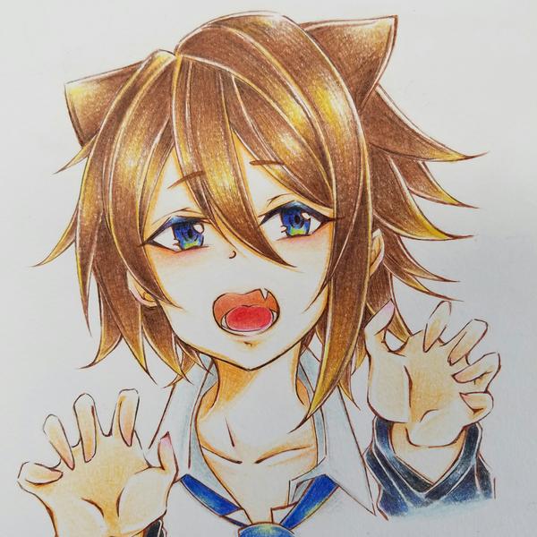スイッチ@猫系男子(友達が描いてくれたver.)※元ネタは猫系女子です。のユーザーアイコン