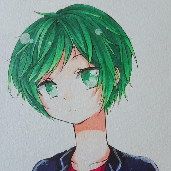 緑(りょく)のユーザーアイコン