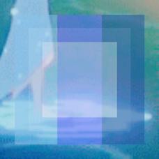 透明を模したblueのユーザーアイコン