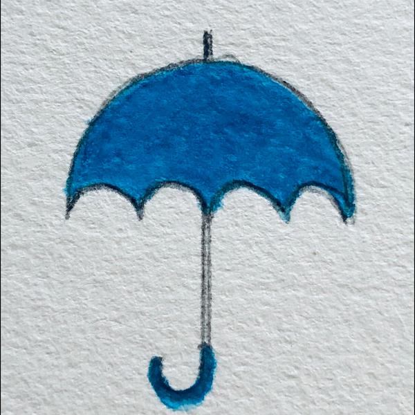 青い傘のユーザーアイコン