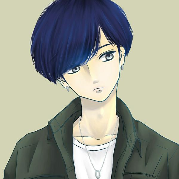 架空青髪男子の碧のユーザーアイコン