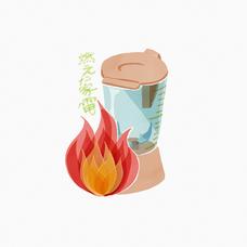 燃えた家電のユーザーアイコン