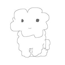ふわふわの犬のユーザーアイコン
