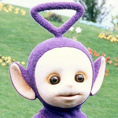 紫色のテレタビーズのユーザーアイコン