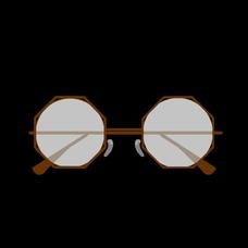 メガネのユーザーアイコン
