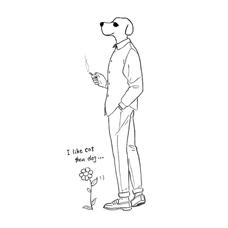 ヒイラギ▷花と犬のユーザーアイコン